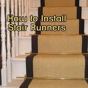 Superieur DIY Tutorial On Installing Stair Runners