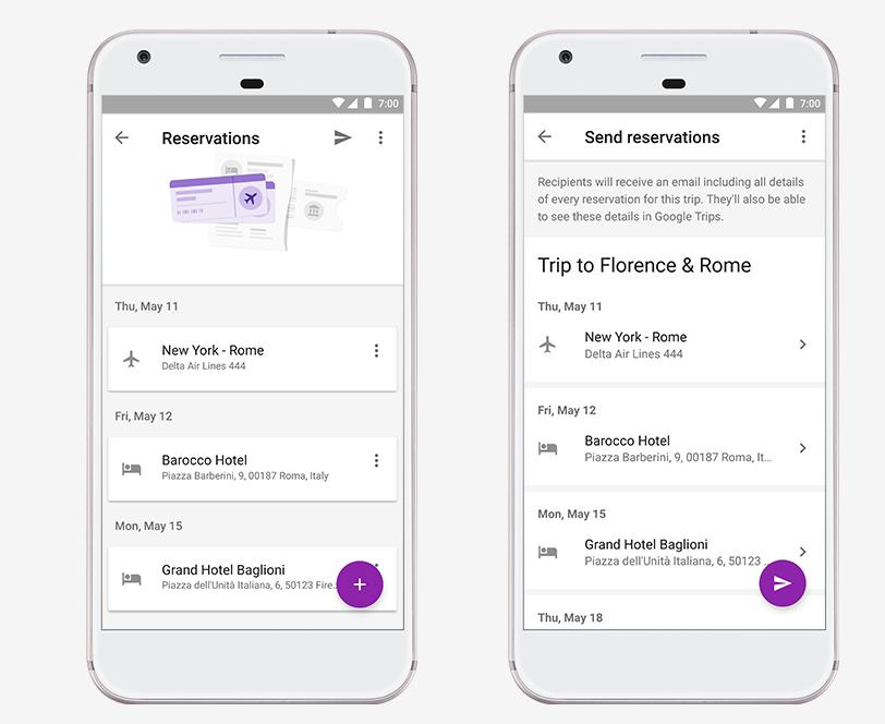 Google Trips suma funcionalidades, como la detección automática de reservas para viajes, vía la integración con Gmail.