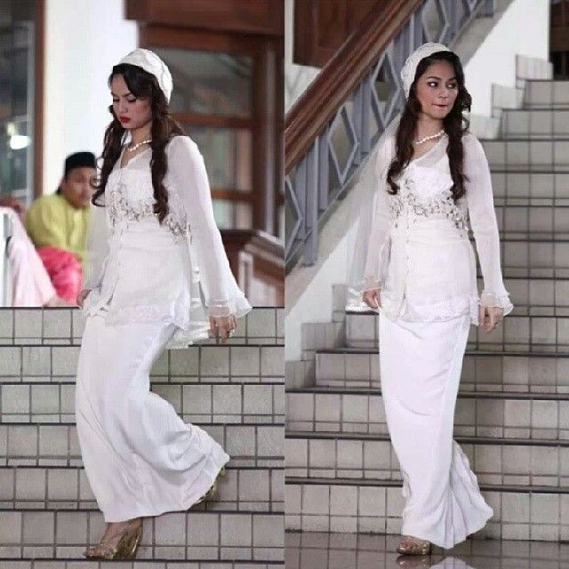 Izara Aishah wearing a Melinda Looi Ivory wedding dress in #Sejoli ...