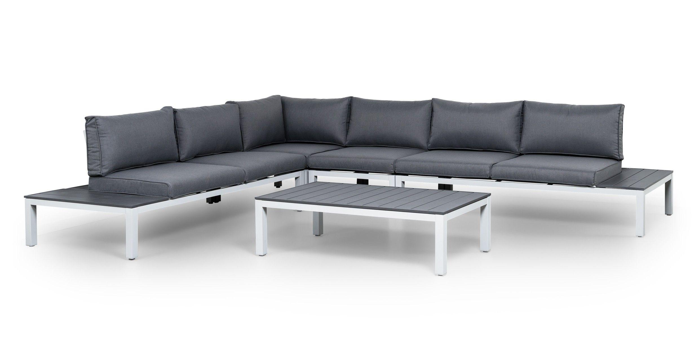 Suns monaco 4 delige aluminium loungeset garden lounge set for Intratuin loungeset
