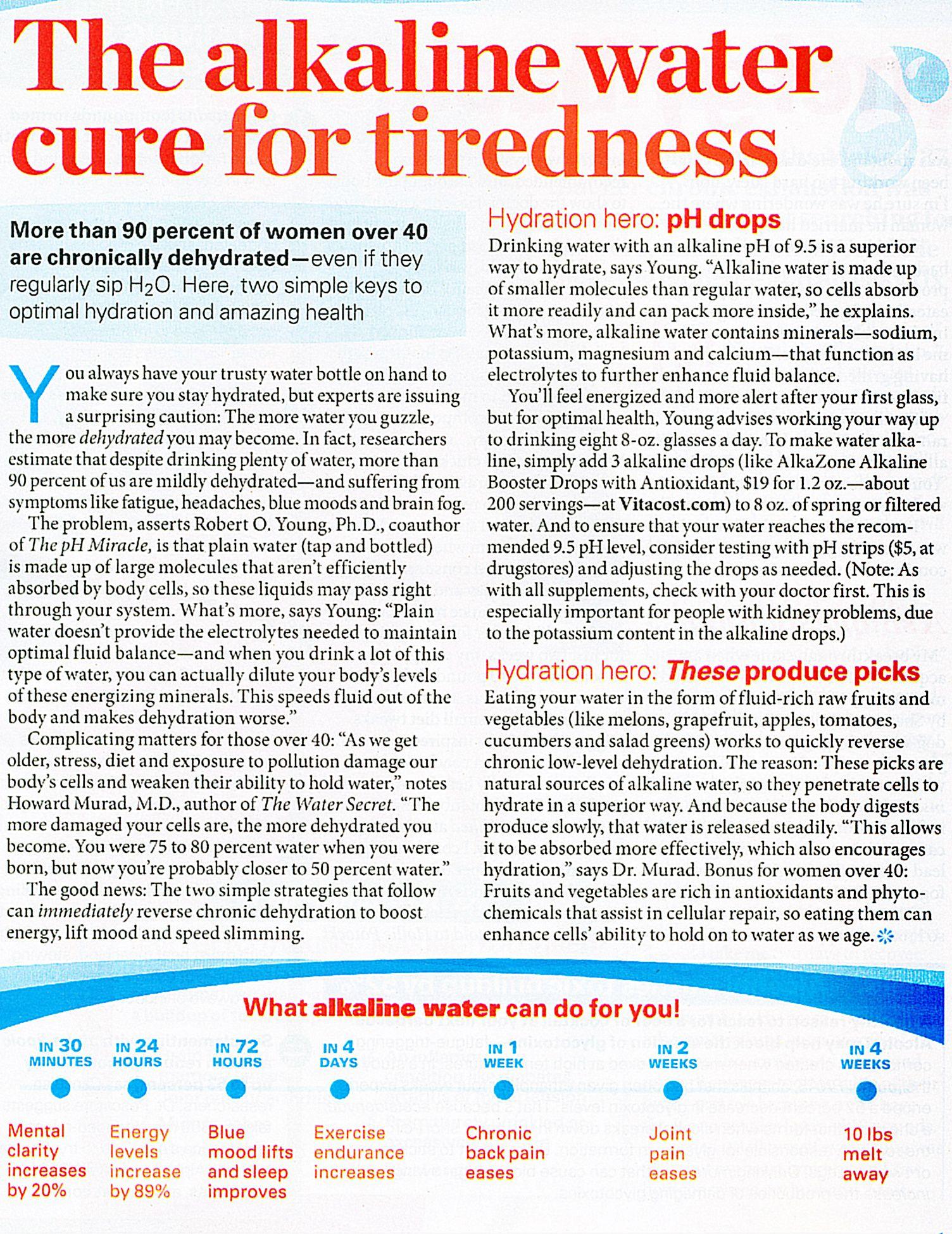 Health Benefits Of Natural Alkaline Water