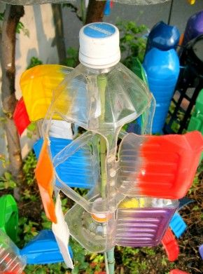 Verwonderend windmolen van lege fles | Plastic fles, Plastic flessen OC-12