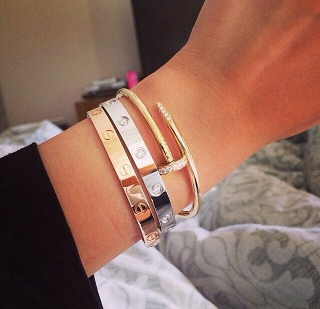 2 Cartier Love Bracelets Juste Un Clou Bracelet