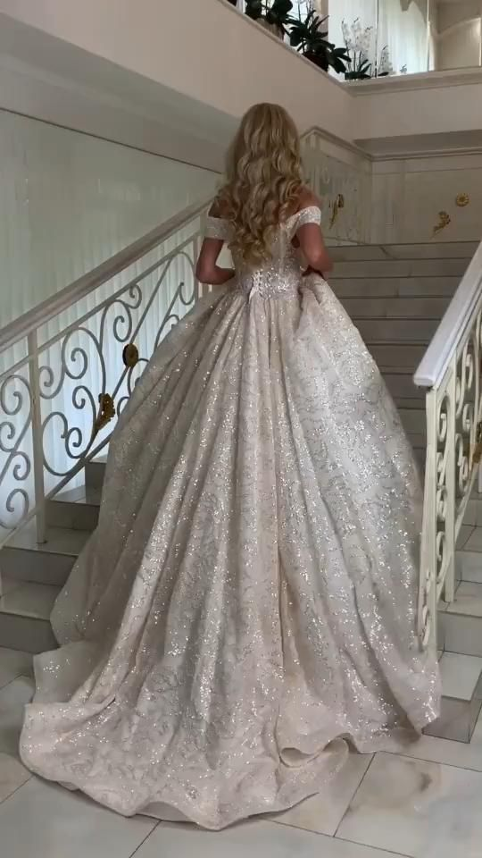Sparkly Sequins Wedding Dress