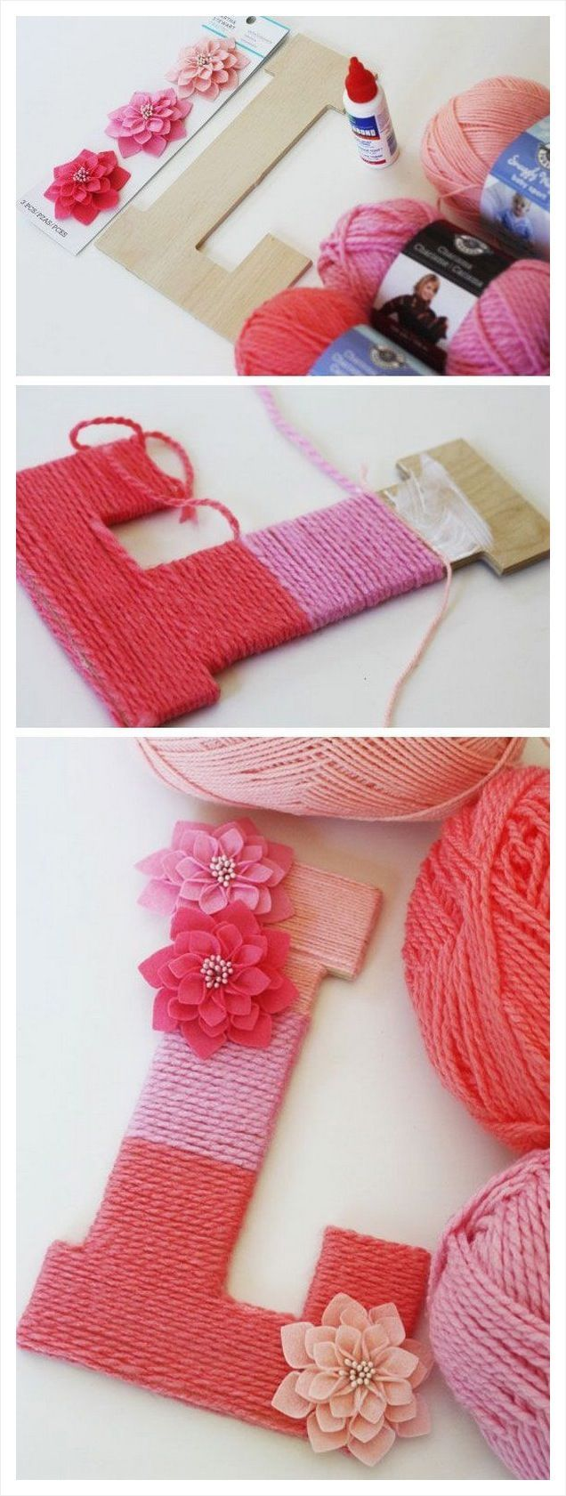Crafts How To Make Yarn Wrapped Letters Video The WHOot