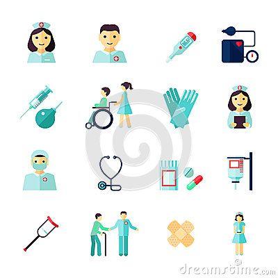 Nurse Icon Flat Stiker Kucing Kesehatan