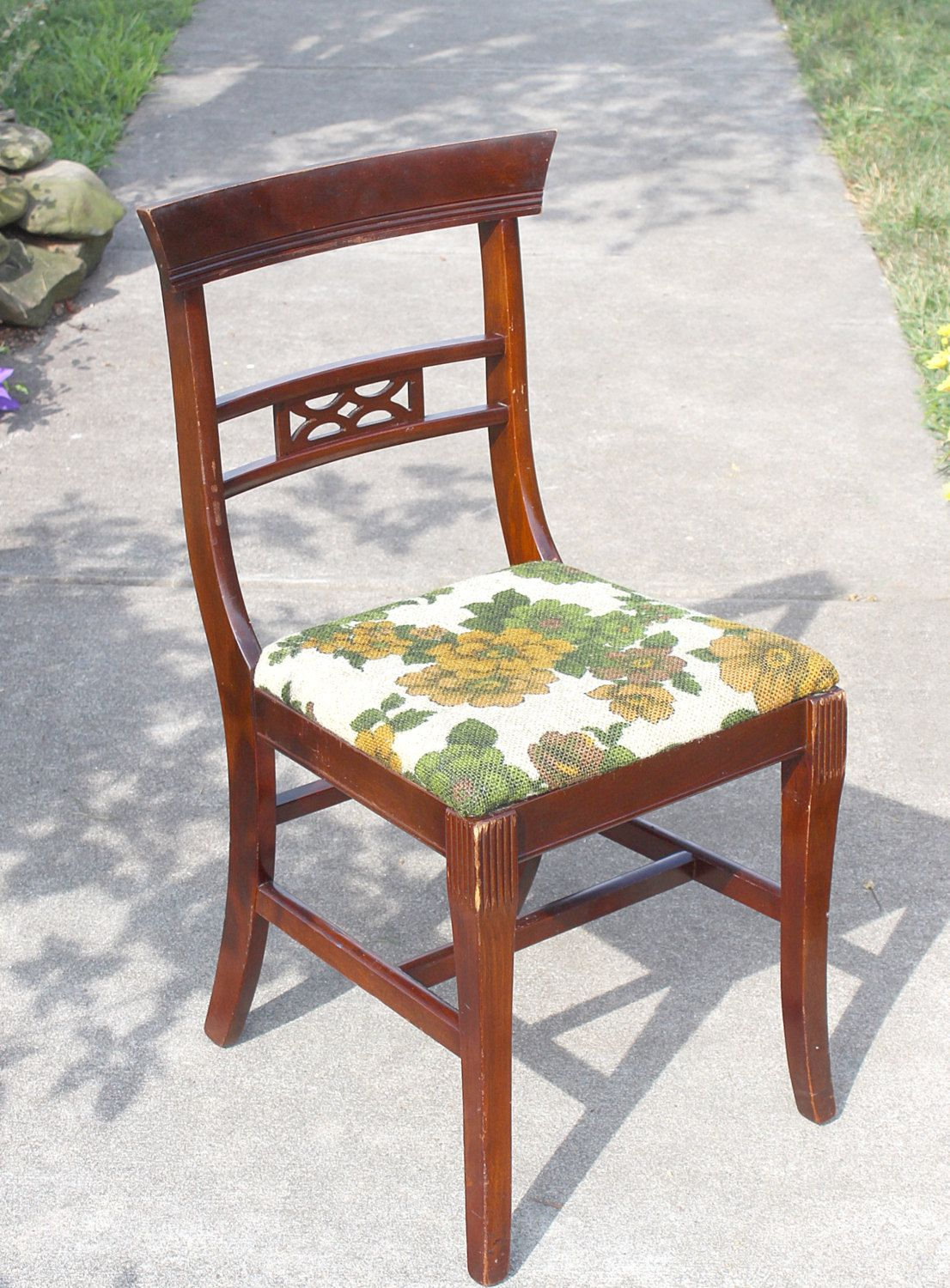 tell city chairs pattern 4526 chair that unfolds into a bed antique mahogany wood marked on bottom beautiful mid century lines cutout back lovely by queenieseclectic etsy