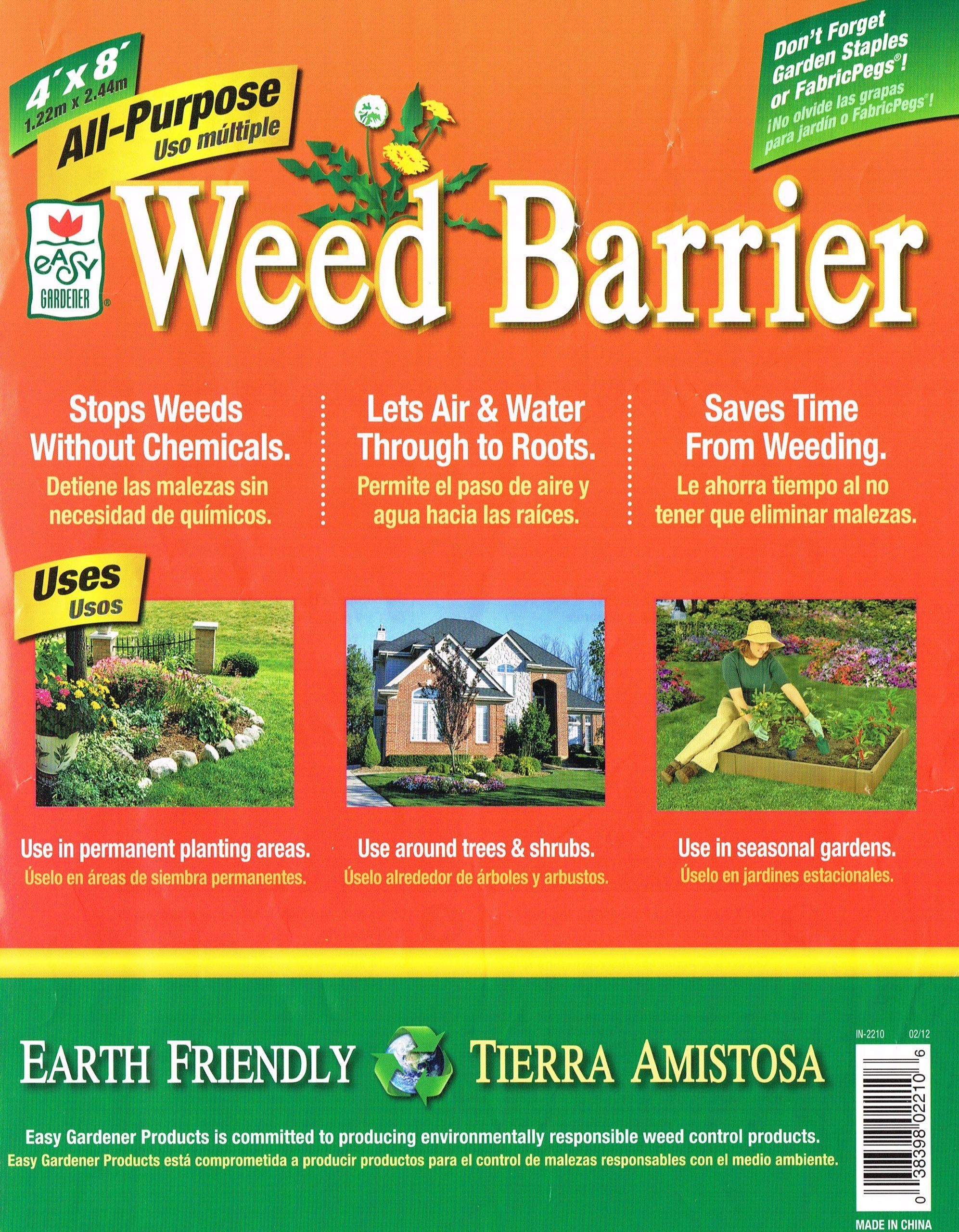 Amazon.com : All  Purpose Weed Barrier (4u0027x8u0027) : Weed Barrier Fabric :  Patio, Lawn U0026 Garden