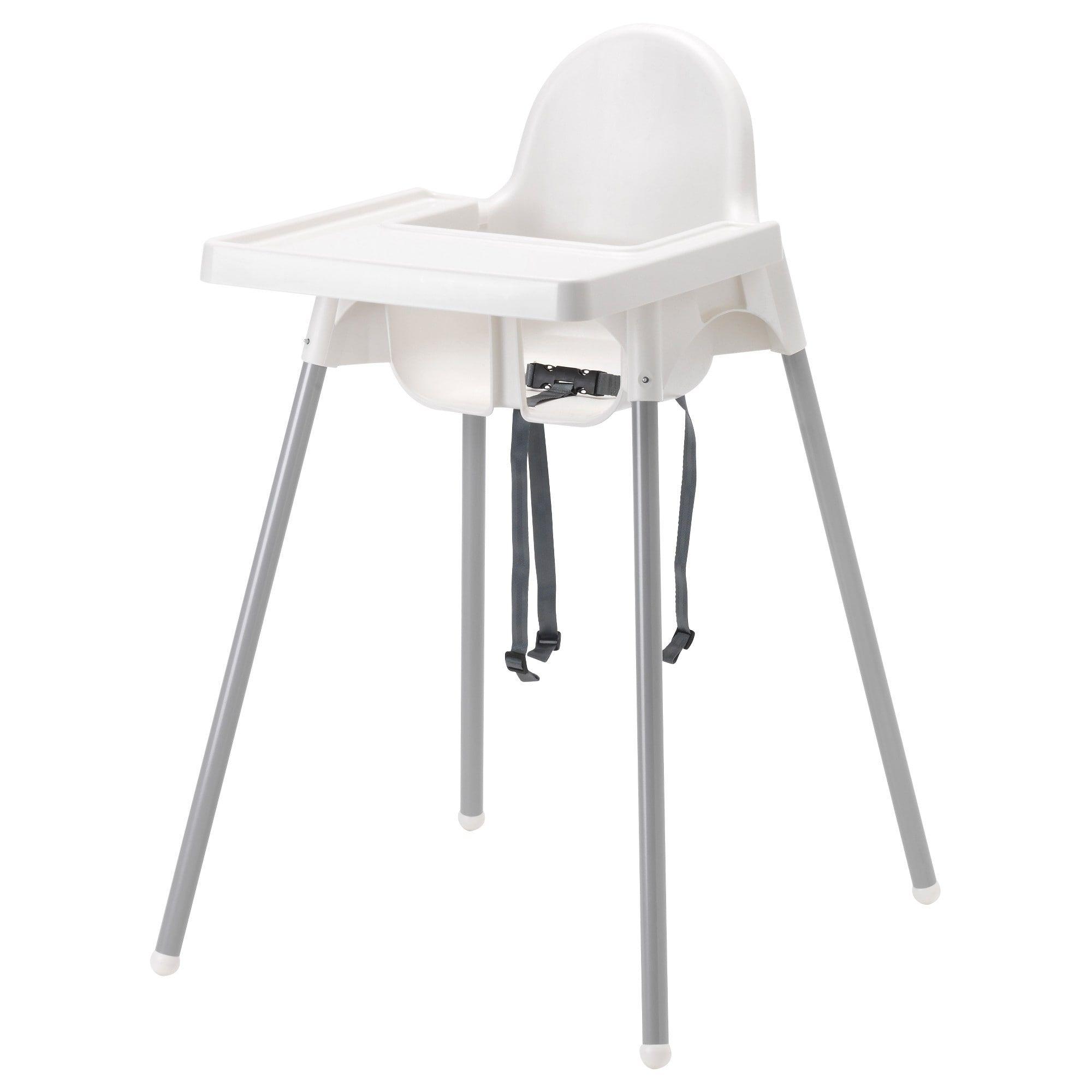 Acquista tra un'ampia scelta di materiali! Antilop High Chair With Tray White Silver Color Silver Color Ikea Ikea High Chair Antilop High Chair Best High Chairs