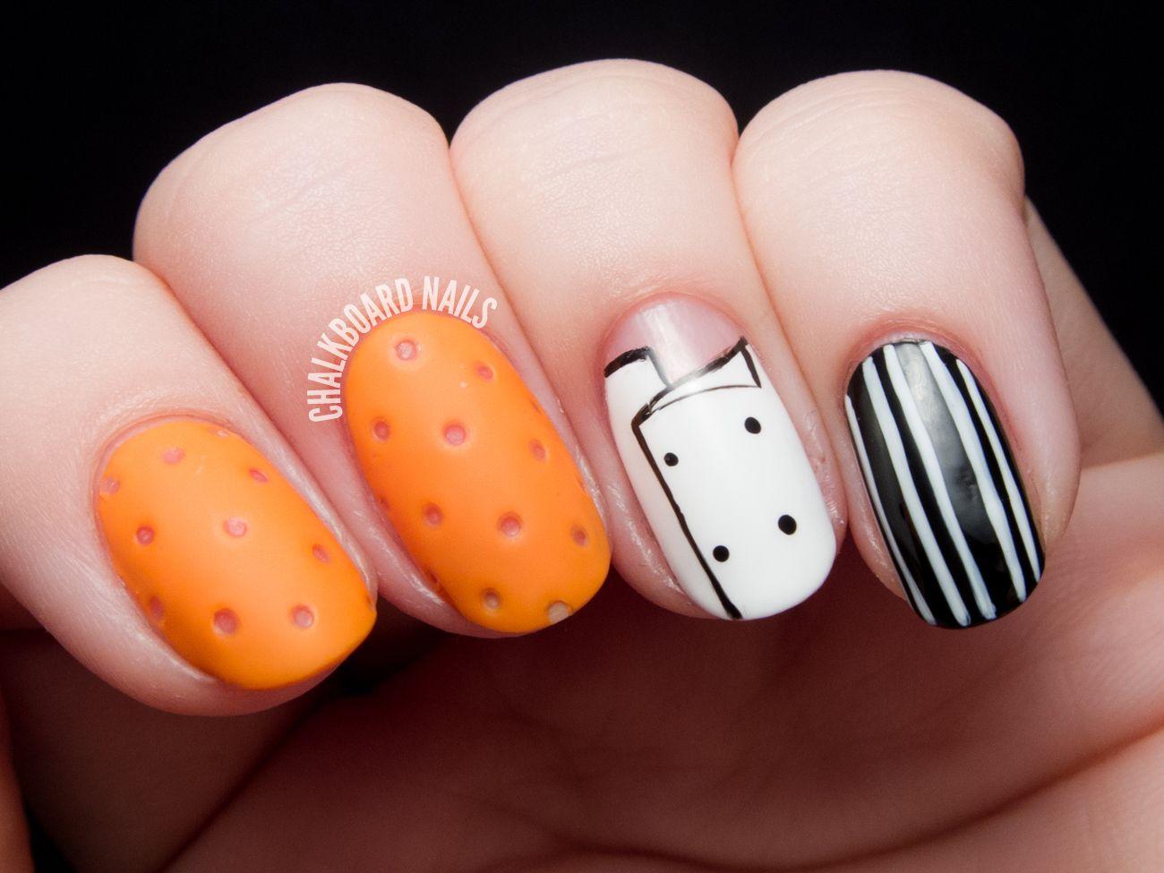 Mario Batali\'s Orange Crocs Nail Art | Crocs, Chalkboard nails and ...