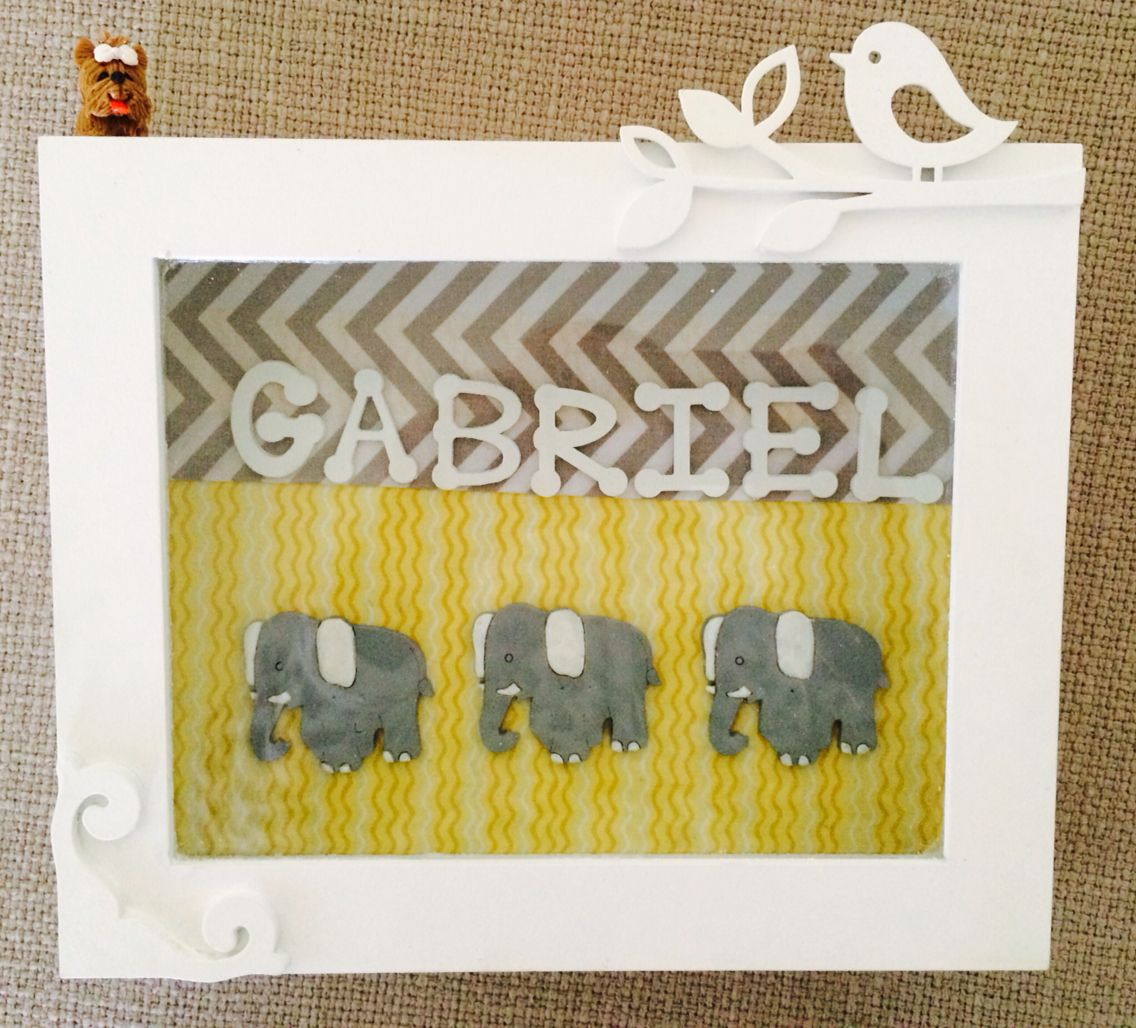 Baby Shower Elephant Theme - gray, yellow and turquoise