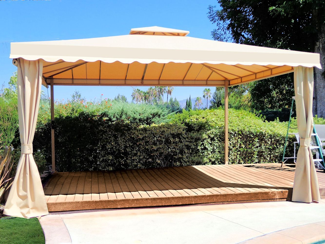 Custom Pool Cabanas By Superior Awning Let The Sun Shine Pool Cabana Custom Pools Cabana