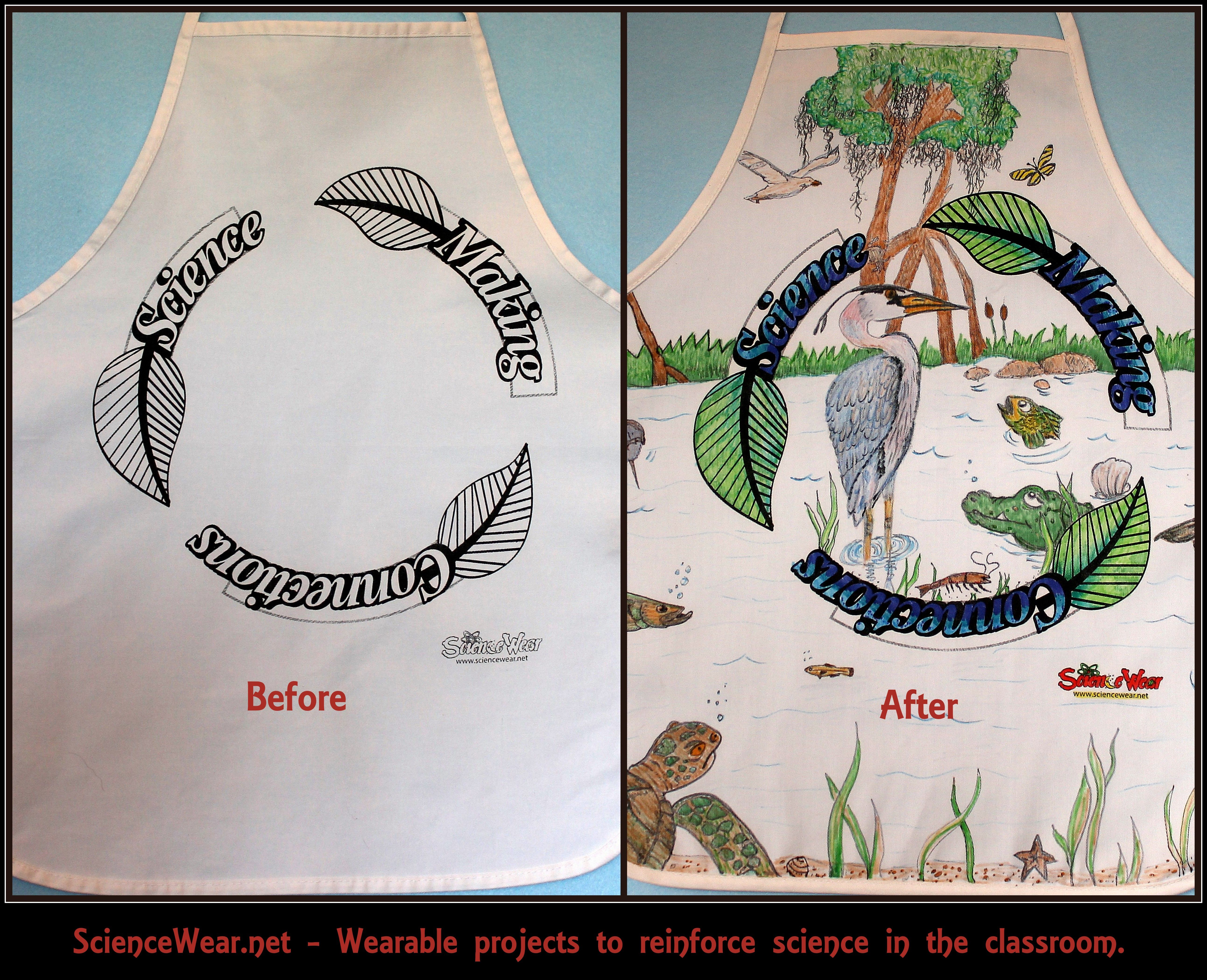 Biome Project - end of year!!! Available as apron (as pictured) or T ...