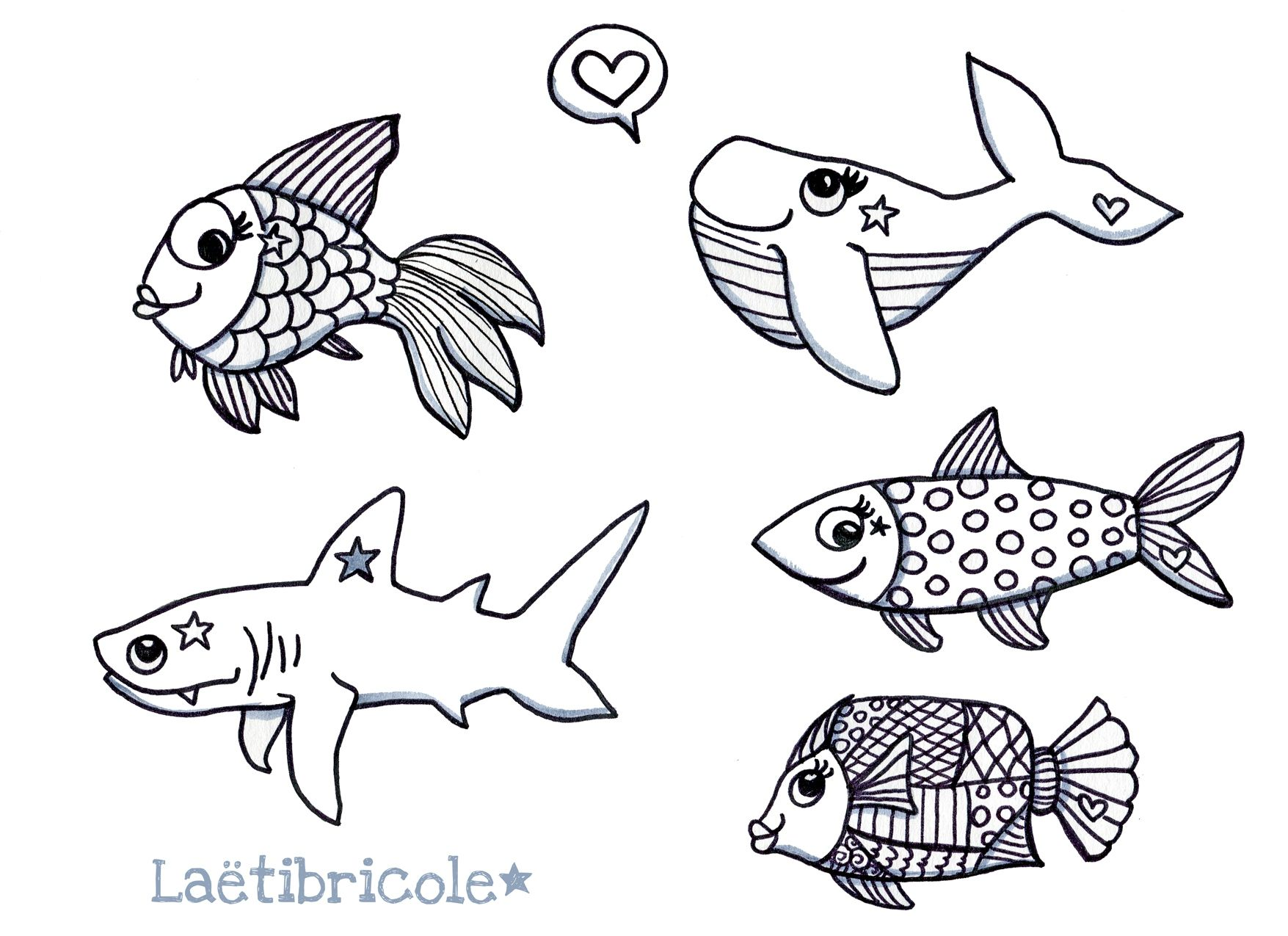 Coloriage poisson d avril my blog - Dessin de poisson d avril ...