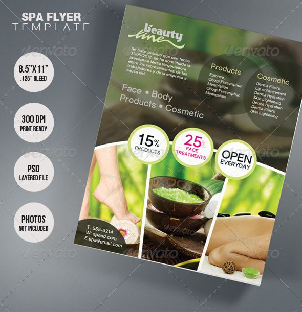 17 Best images about Flyer apartment – Spa Brochure Template