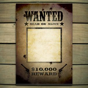Lone Ranger Wanted Poster Template Word  For Casey
