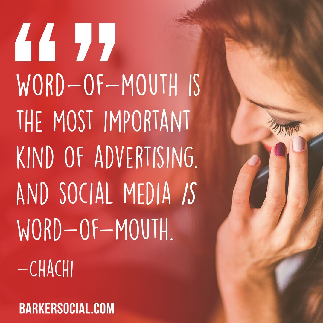 Wordofmouth is the most important kind of advertising
