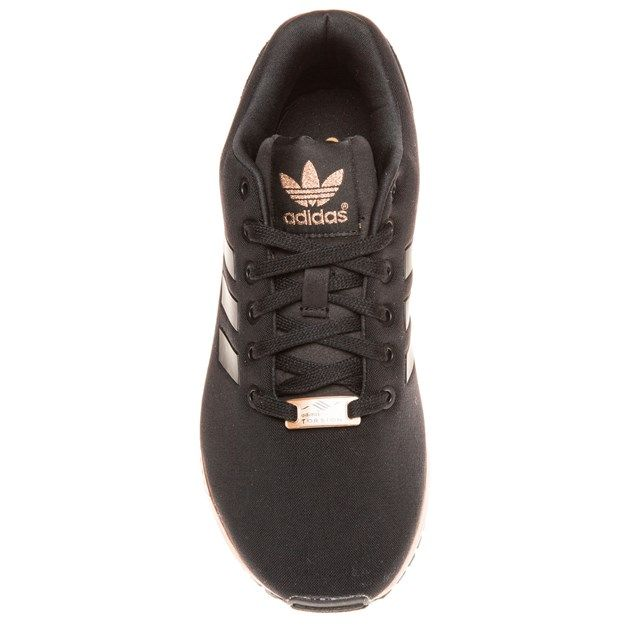 d54093a122bc adidas ZX Flux Trainers – Black and Copper (Gold