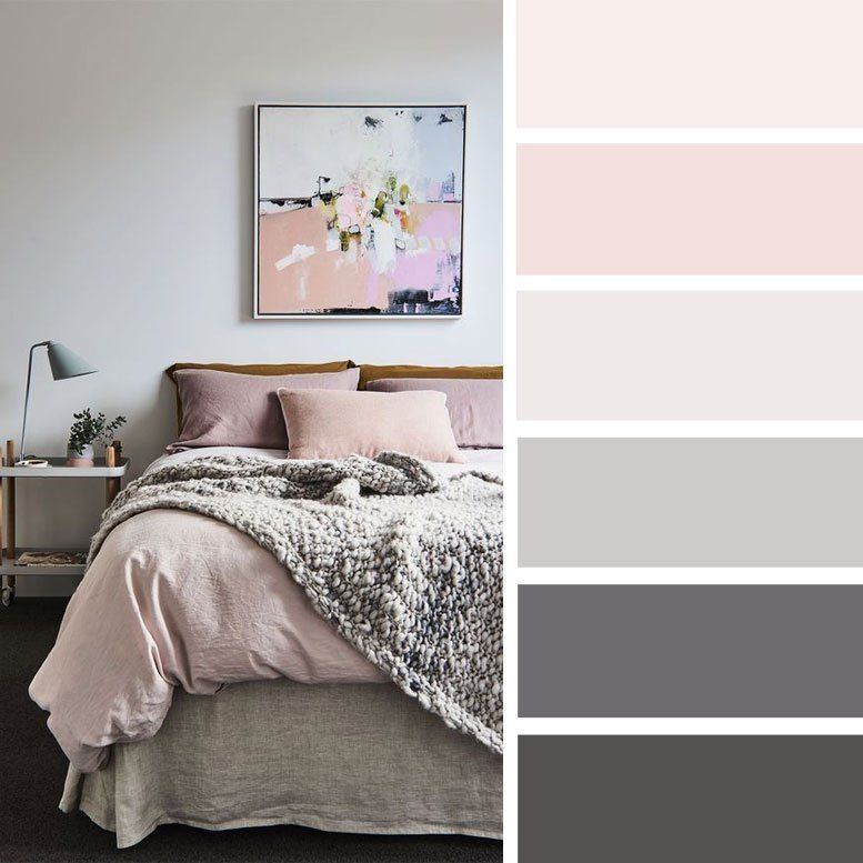 The Best Color Schemes For Your Bedroom Grey And Mauve Cvetovye Palitry Dlya Spalni Sinie Spalni Pastelnyj Interer