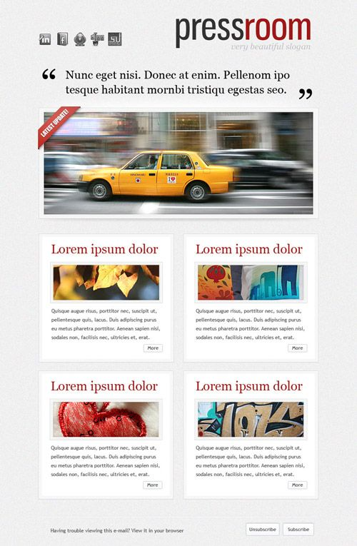 PressroomEmailNewsletterTemplatePreviewJpg   Design