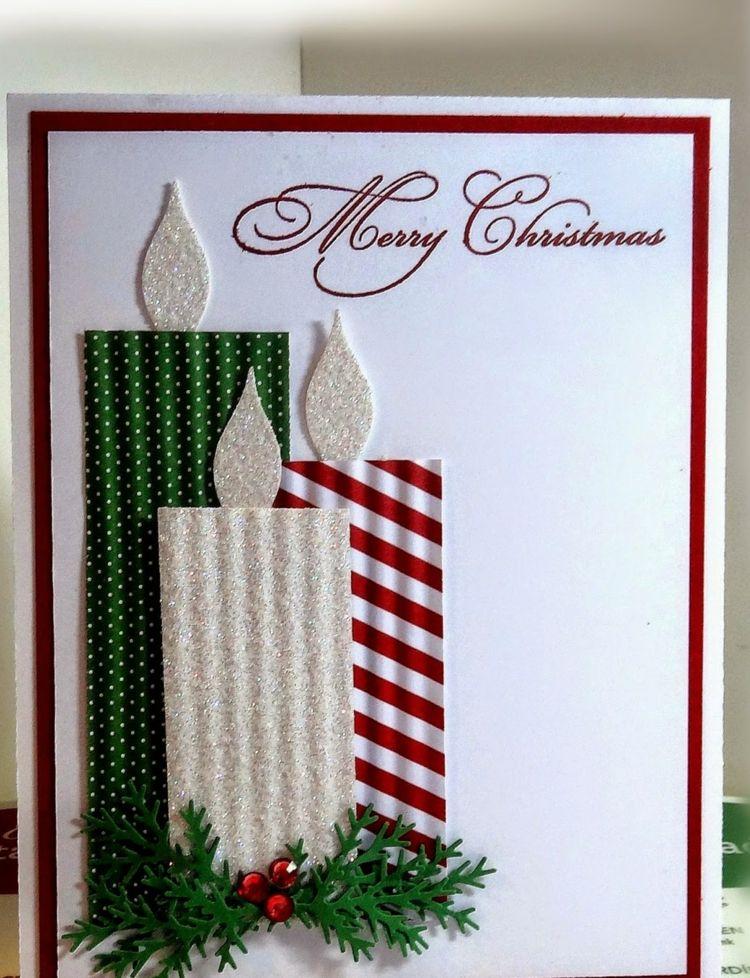 stampin  weihnachten  effekt kerzen frohe gesegnete