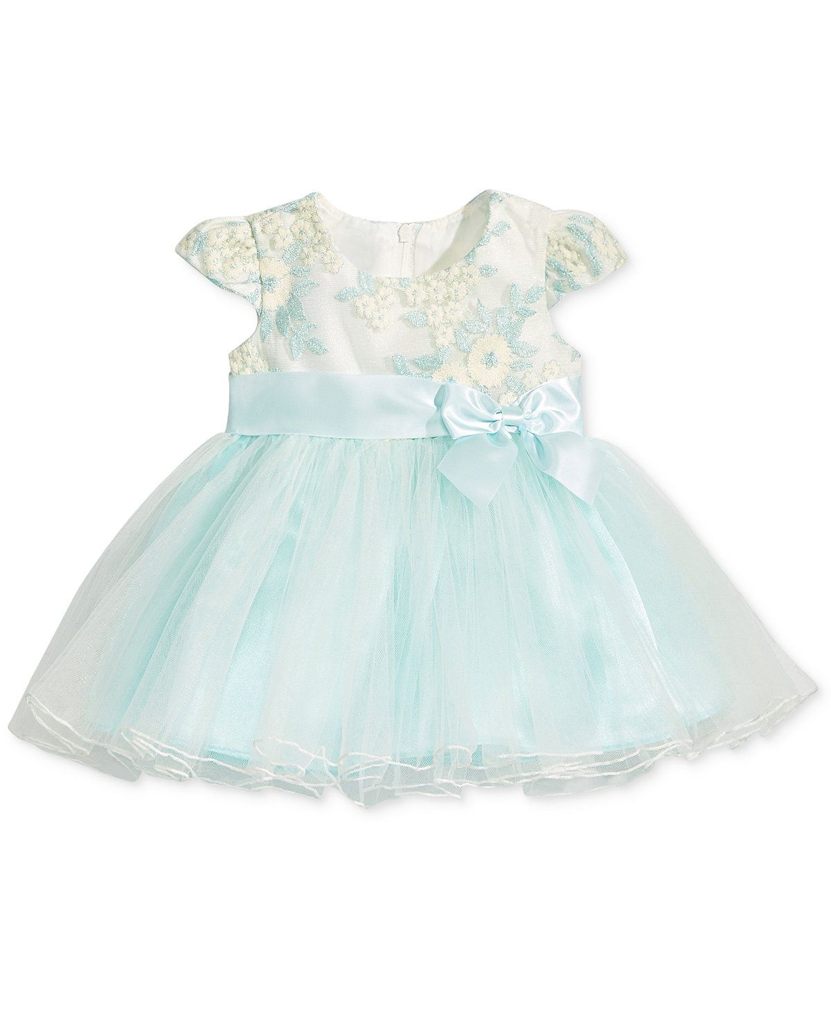 Bonnie Baby Embroidered Ballerina Dress Baby Girls 0 24 Months