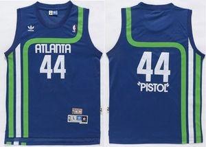 c98e6696cf45 NBA Hawks 44 Pete Maravich Light Blue