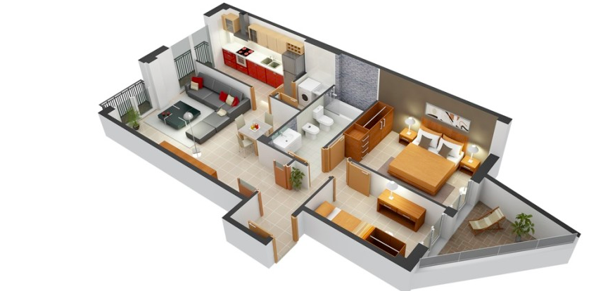 Simple 2 Bedroom House Designs Enchanting Pinhome Design On Home Design  Pinterest  Bedroom Apartment Design Decoration