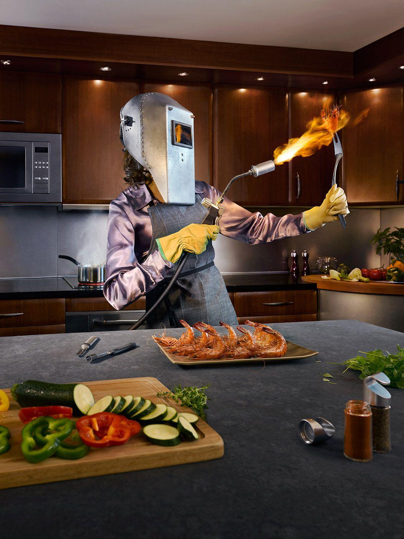 Корпоративная, приколы на кухне фото