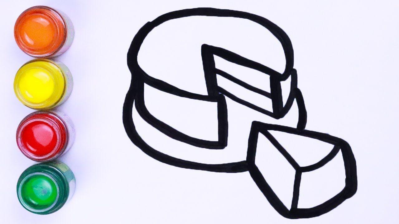 Menggambar Dan Mewarnai Kue