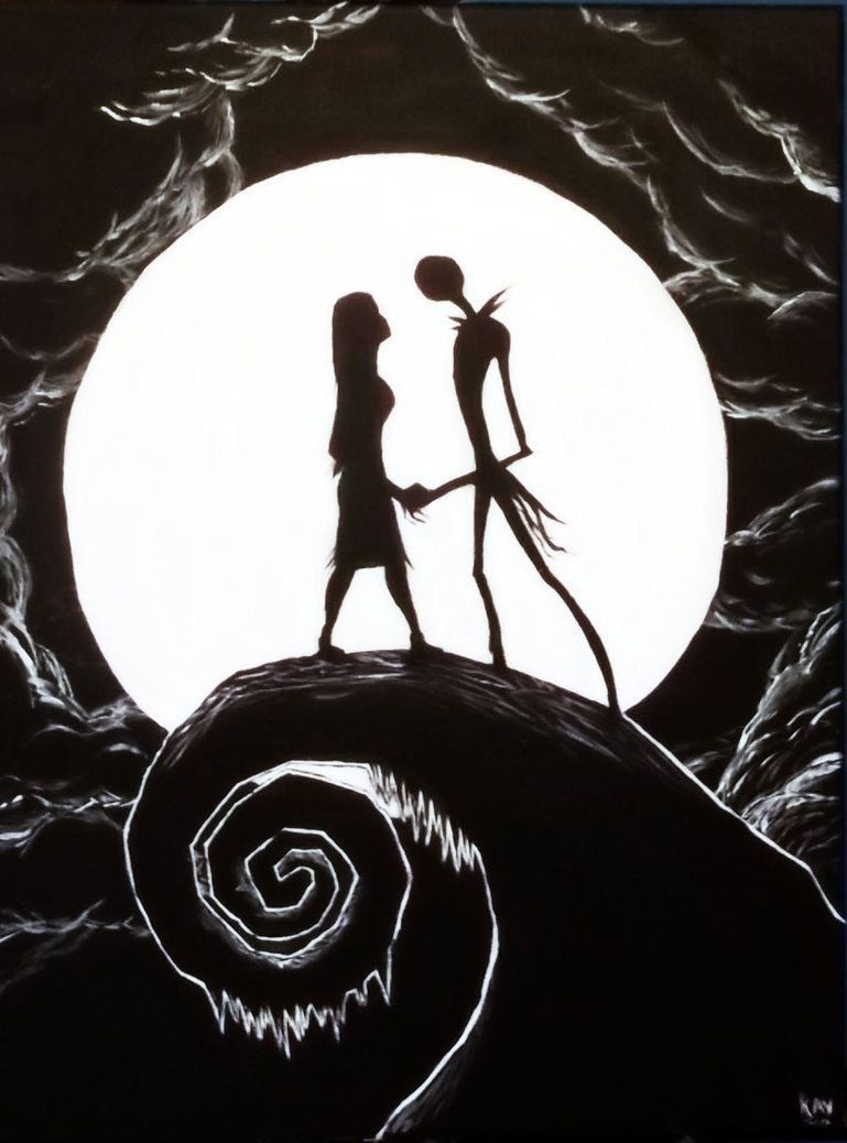 Nightmare Before Christmas Jack And Sally Wallpaper