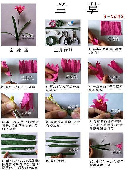 pirrka paper flower (tutorial) ORCHID (FRAGRANT THROUGHWORT)
