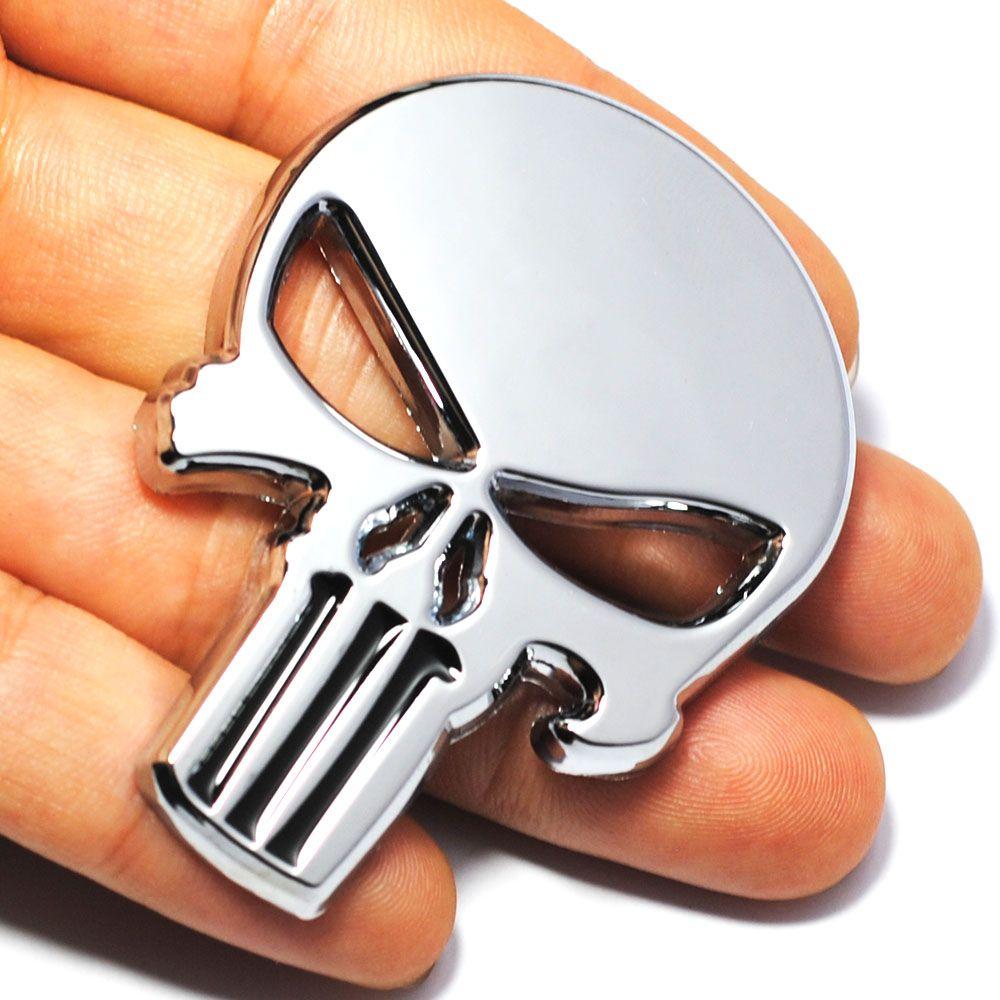 Cool 3d Schadel Metall Skeleton Auto Motorrad Aufkleber Label
