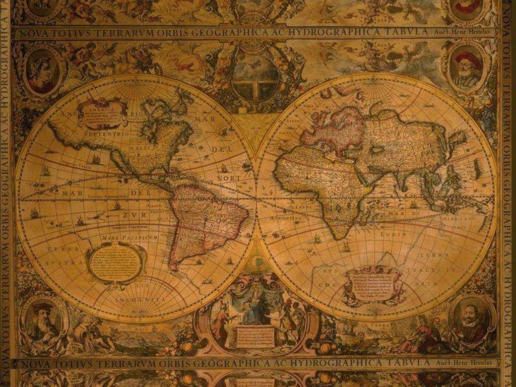 Old Map Of The World Globes