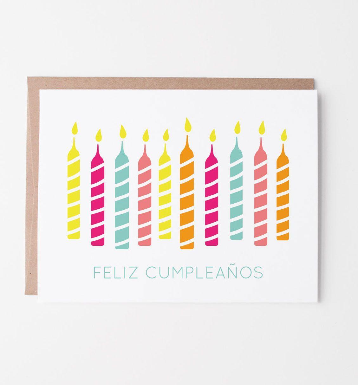 Feliz Cumpleaños Spanish Birthday Card
