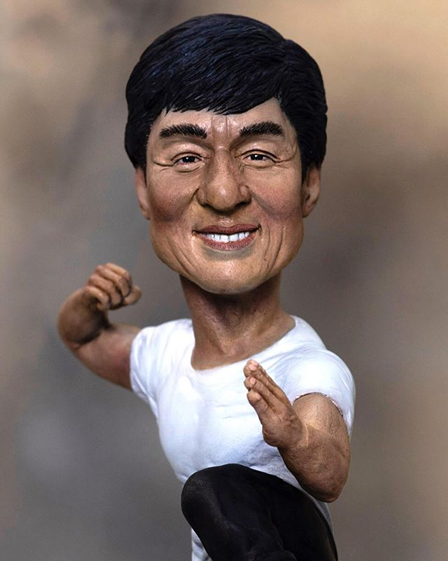 The Incredible Moviestar Stuntman And Human Jackiechan This Caricaturesculpture Has Been Made Not For Sale Jackie Chan The Incredibles Movie Stars