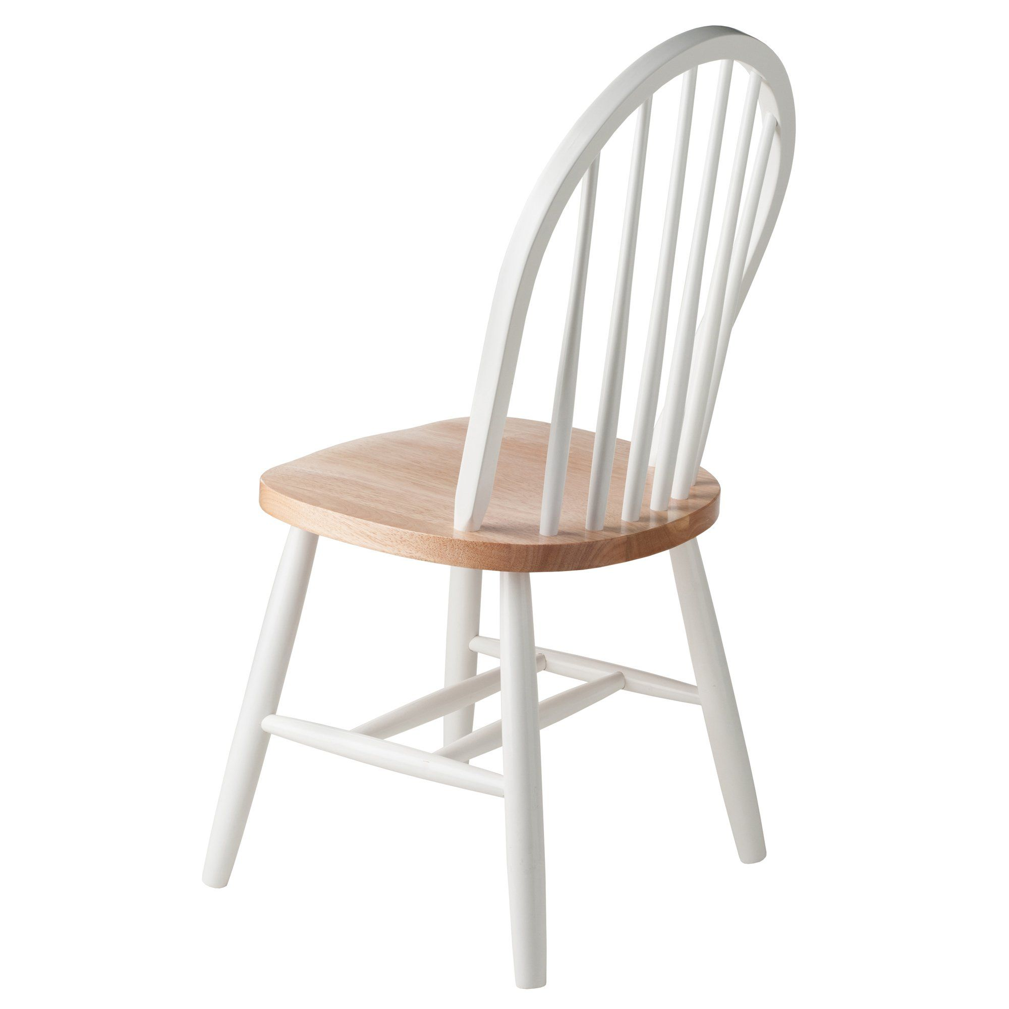 Winsome Wood Windsor Chair In Natural And White Finish Set Of 2 Click Image For More Details It Is An Affiliate Link To Kitchenremodeling