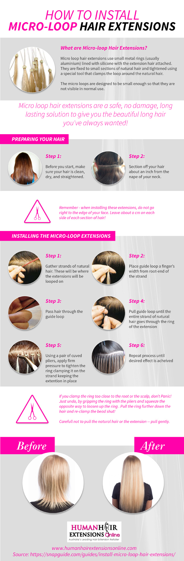 How To Instal Micro Loop Hair Extension Hair Make Up Fashion