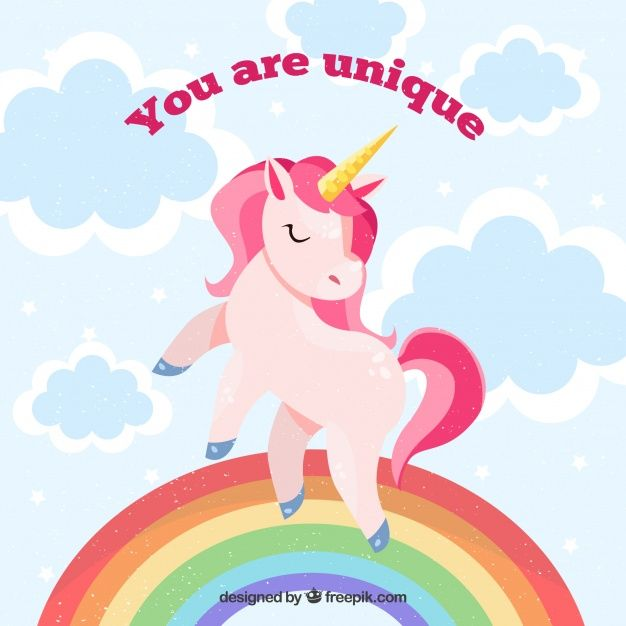 Download Unicorn Background With Rainbow And Unicorn Backgrounds Unicorns Vector Unicorn