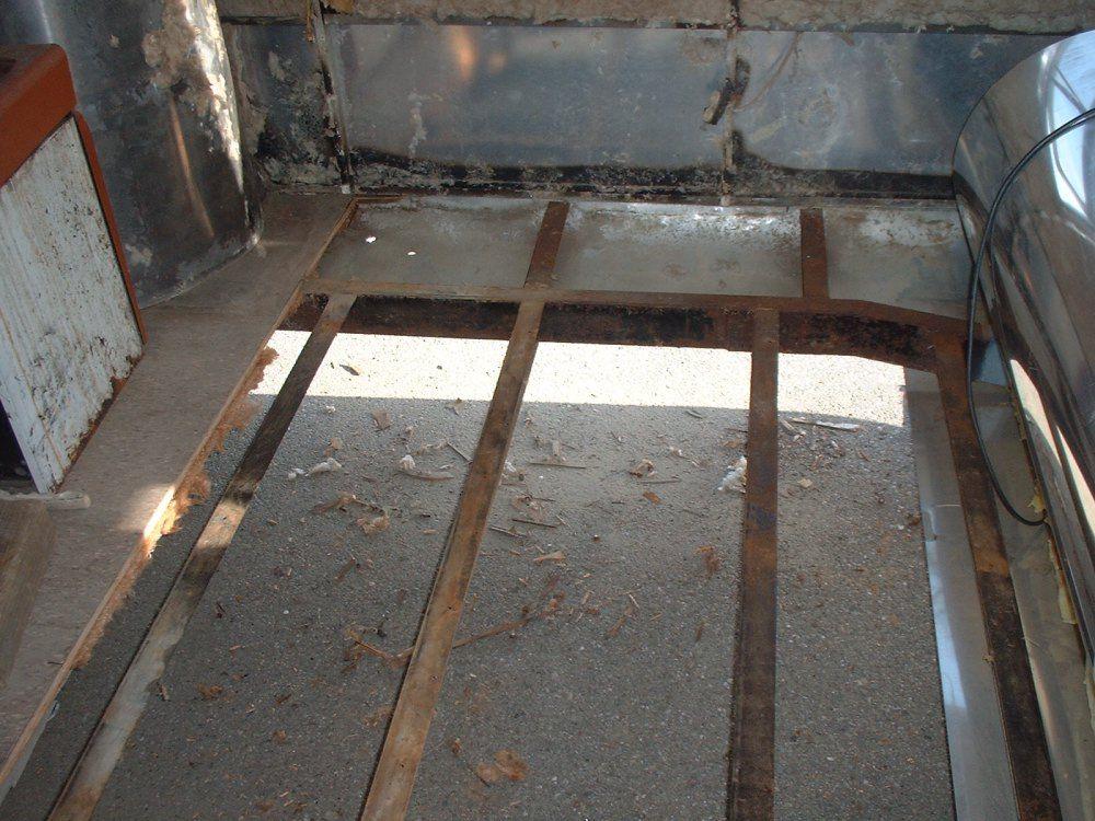 Floor replacement vintage airstream airstream - Airstream replacement interior panels ...