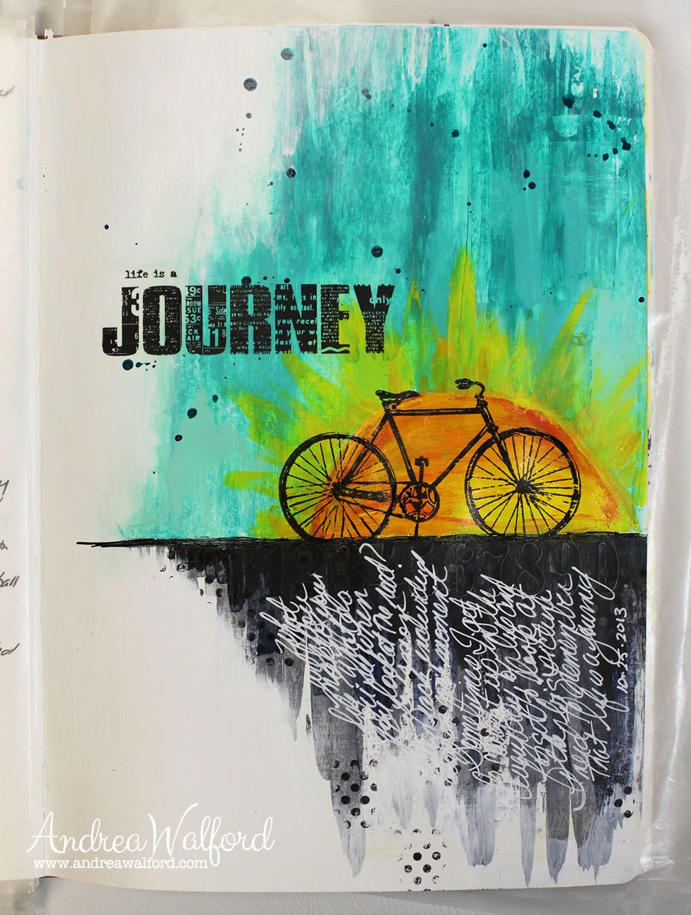 "Art Journal Express #2: Video Tutorial ""Life is a Journey"" Art ..."