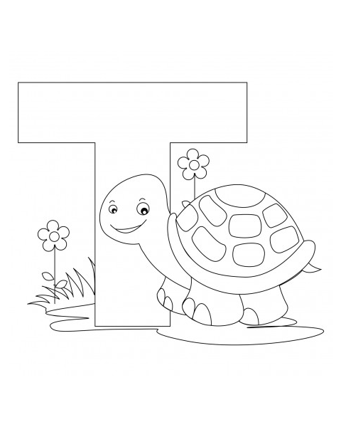 Letter T Coloring Page Turtle Coloring Pages Abc Coloring Pages Alphabet Coloring Pages