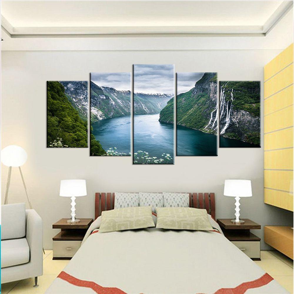 5 Piece Set Natural Landscape Canvas Wall Painting Canvas