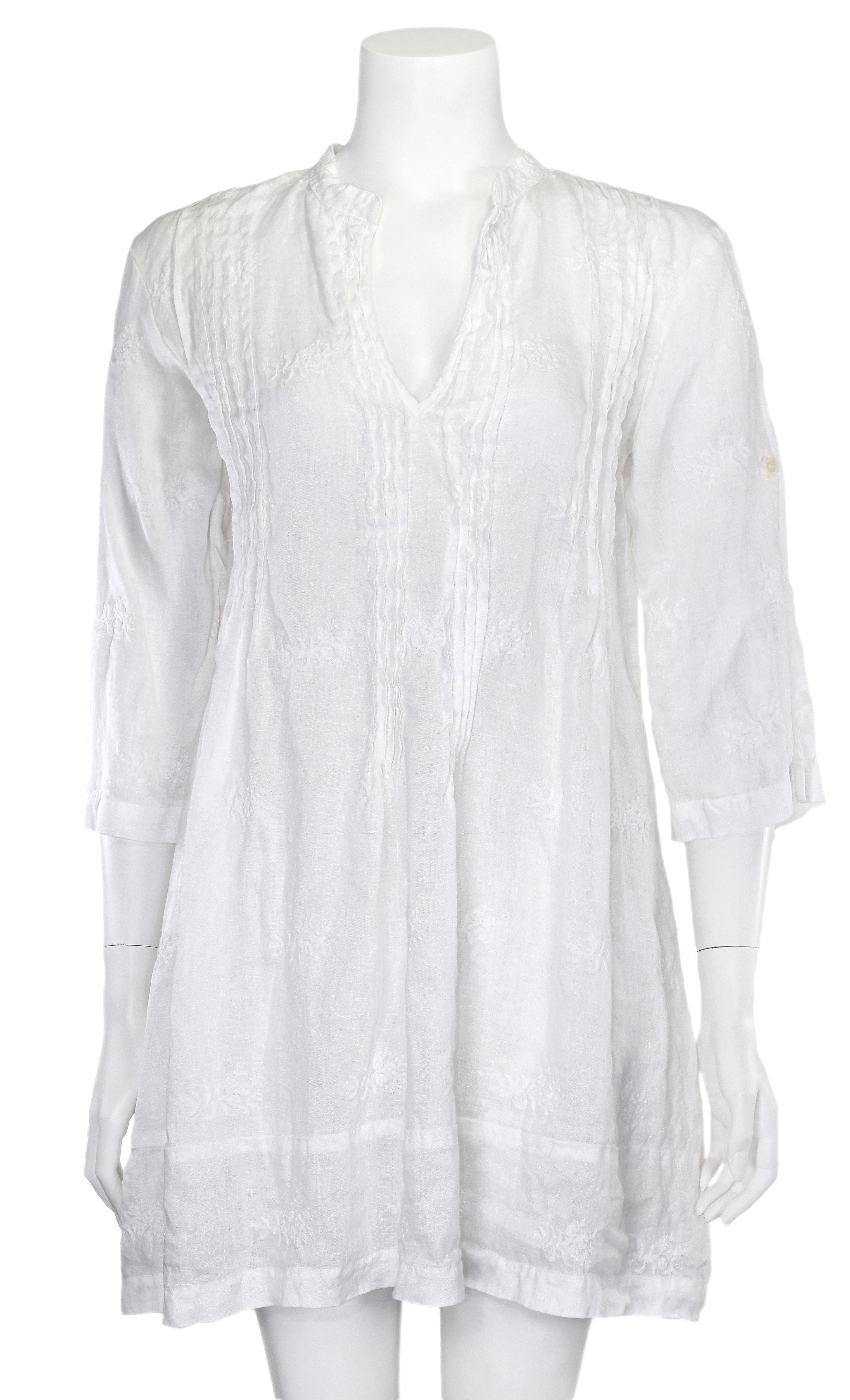 5ca5989acdc CP Shades White Embroidered Linen Regina Tunic | CP Shades | Tunic ...