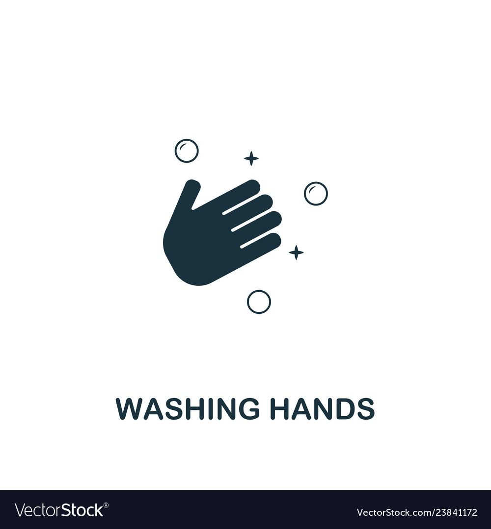 Washing Hands Icon Premium Style Design From Vector Image On โลโก