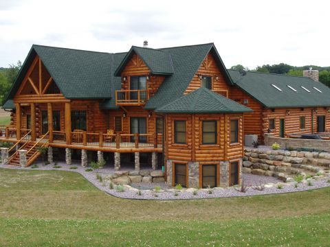 Log Homes Are Distinctive Inside Out In A Golden Eagle Log Home Log Home Plans Log Homes Exterior Log Homes