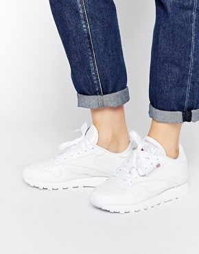 Shop Reebok Classic White Leather Trainers at ASOS.