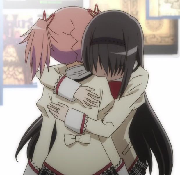 Homura hugging Madoka <3 Rebellion   Madoka magica, Magical girl ...