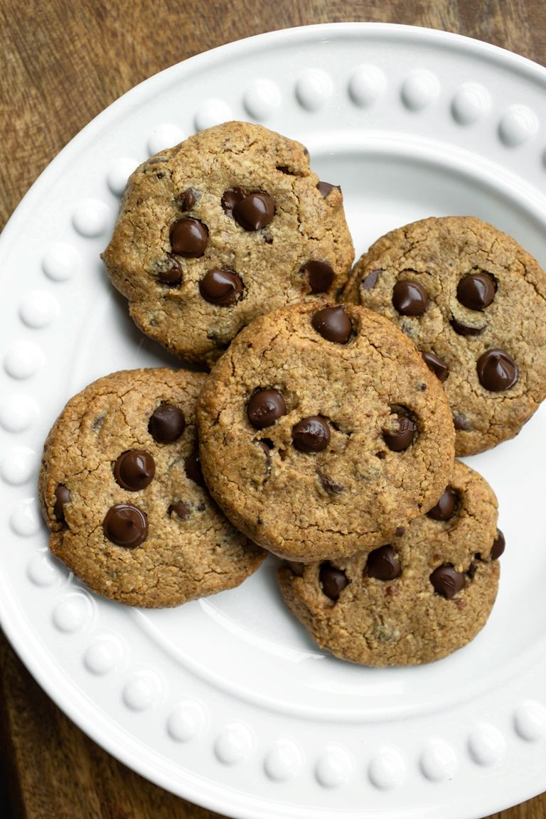 Almond Butter Chocolate Chip Cookies Vegan Gluten Free