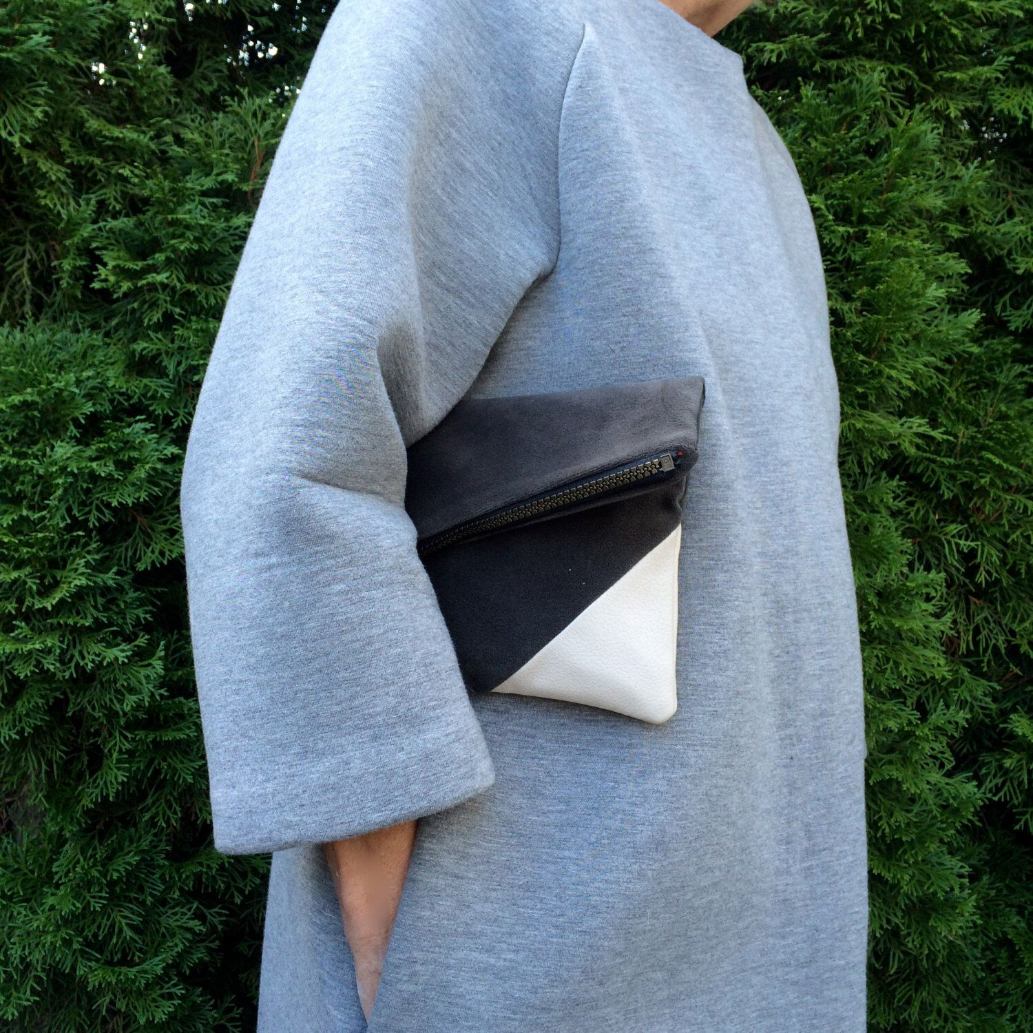 The City Forager- Simple clutch, lined purse, pouch, bag by yaysayerbags on Etsy https://www.etsy.com/listing/249208145/the-city-forager-simple-clutch-lined